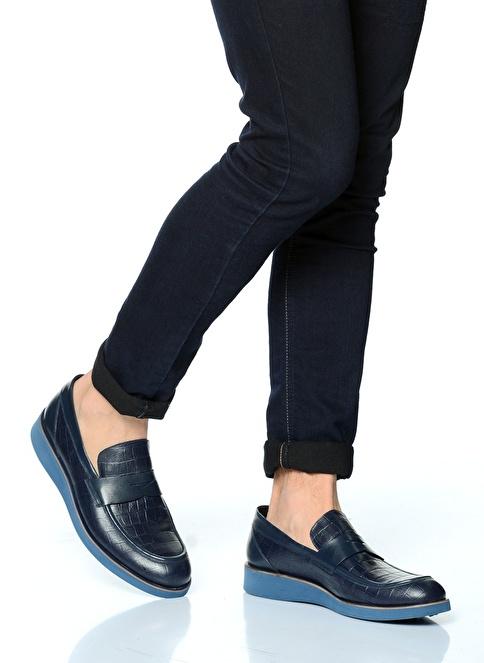 D by Divarese %100 Deri Casual Ayakkabı Lacivert